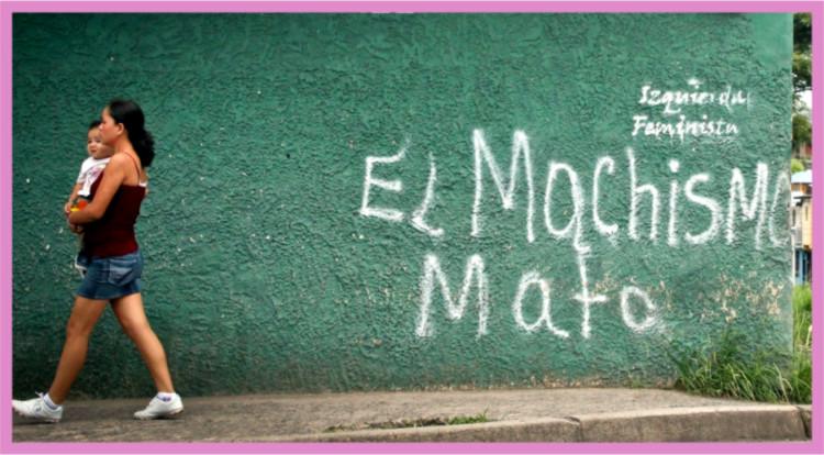 Imagen en varios blog El machismo mata. Fuente: flickr.com/photos/lo_/